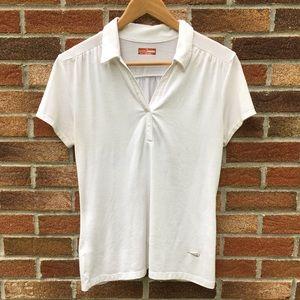 Grand Slam White Collared Golf Shirt